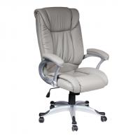 Луксозен директорски стол сива еко кожа
