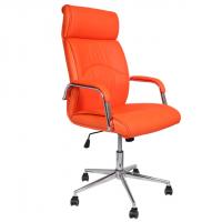 Луксозен президентски стол  еко кожа оранж