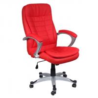 Перфектен директорски стол в наситено червено