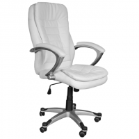 Перфектен директорски стол в снежно бяло