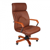 Луксозен стилен директорски стол цвят кафе