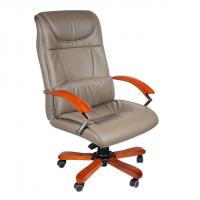 Менажерски стол сива еко кожа