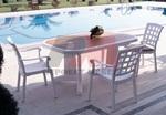 Пластмасови комплекти маси и столове за басейн