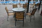 Стилна основа за бар маса за басейн