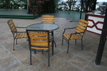 Прахово боядисани бази за маси, за вътрешно и външно използване