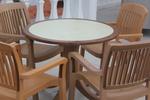 Градински стол за кафене, произведен от пластмаса