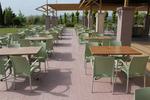 Устойчиви пластмасови столове за ресторант
