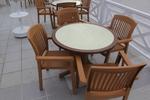 Пластмасови кафяви столове за лятно заведение