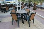 Универсална маса от пластмаса за ресторант, за външно използване