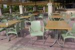 Столове от пластмаса за басейн, за външно ползване