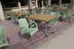 Пластмасови столове за ресторант, за открито