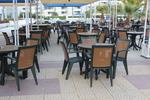 Устойчиви пластмасови столове за заведение