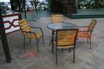 Прахово боядисани бази за маси, с различна големина