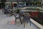 Пластмасов кафяв стол за заведение