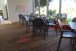 Градински кафяви столове, от пластмаса