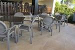 Пластмасови столове за лятно заведение, с доставка
