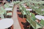 Пластмасов стол за лятно заведение, за външно ползване