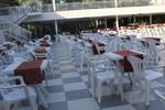 Универсален стол от пластмаса за лятно заведение, за външно използване