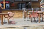 Универсален стол от пластмаса за плаж, за външно използване