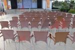 Пластмасови столове за плаж, с различни цветове