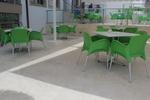Пластмасови зелени столове, за градината