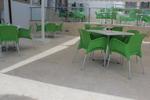 Столове зелени, произведени от пластмаса, различни модели