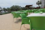 Универсален зелен стол от пластмаса, за външно използване