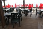 Пластмасови зелени столове, с доставка