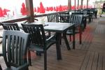 Градински зелени столове от пластмаса