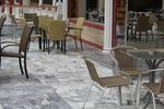 Столове,произведени от метал за ресторанти,различни модели