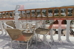 Комфортен метален стол за плаж