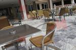 Универсален стол от метал за ресторант за вътрешно и външно използване