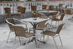 Комфортен метален стол за басейни
