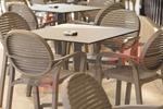Уникална стойка за маса за външно ползване