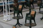 Пластмасова зелена маса за кафене
