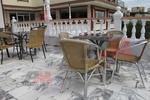 Градински алуминиеви столове за кафене