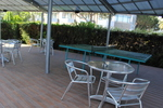 Метална маса за басейни за открити пространства