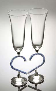 Кристални чаши за сватба -03 - 2бр