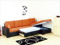 Мека мебел оранжево и черно