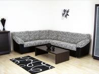 Ъглов диван в черно и бяло