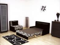 Мека мебел в бяло и черно