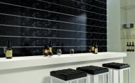 плочки за баня, модел: Ашанти черно 02