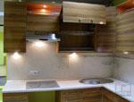 Поръчков кухненски дизайн от светло дърво 243-2616