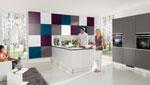 Кухня по проект, решена бяло 359-2616