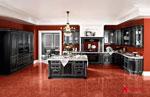 Кухня по поръчка в черно и червено 387-2616