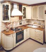 Кухня от висококачествени материали по поръчка 412-2616