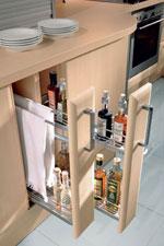Кухня от светла дървесина по поръчка 414-2616