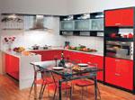 Изработка на кухни по поръчка - серия кухни в червено 520-2616