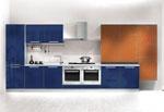 Синьо кухненско обзавеждане по проект 552-2616