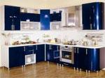 Поръчкова кухня в тъмно синьо и бяло 564-2616